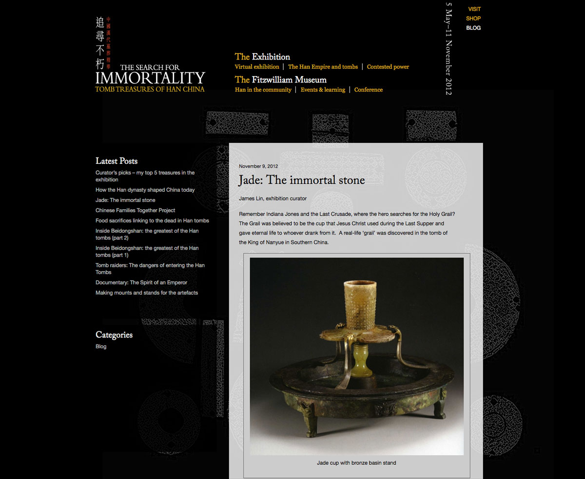 Tomb Treasures blog page